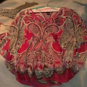 INC pink design blouse